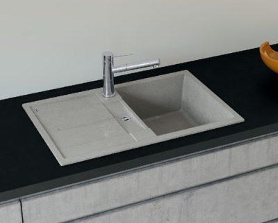 akcija granitne sudopere blanco metra 45 s silgranit beton style