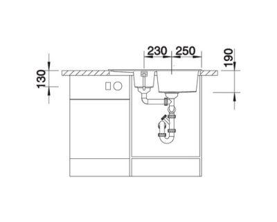 akcija granitne sudopere blanco metra 6 s compact silgranit
