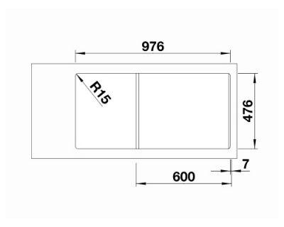 sudopera inox saten polirana Blanco Andano XL 6 S-IF