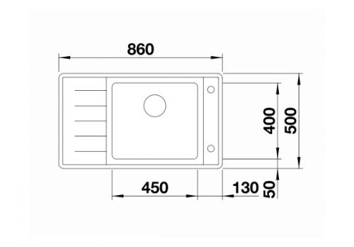 sudopera inox saten polirana Blanco Andano XL 6 S-IF Compact