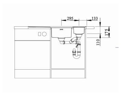 sudopera inox saten polirana Blanco Axis III 6S-IF
