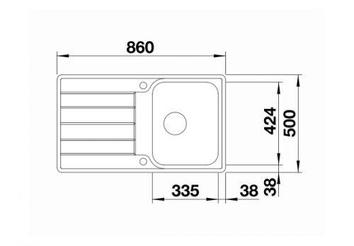 polirane inox sudopere Blanco Classimo 45 S-IF