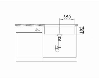 inox podgradne sudopere Blanco Solis 700-U