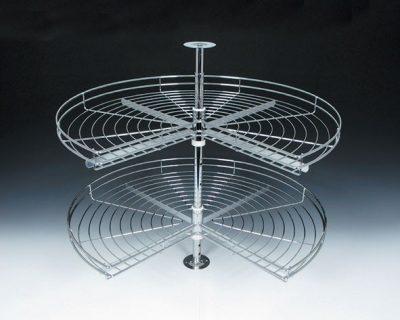 zicani element okretna korpa 3/4 kruga hrom